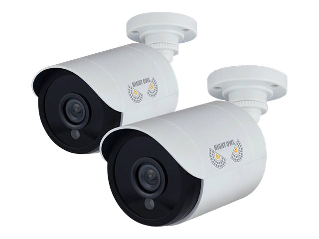 Night Owl 1080p HD Security Bullet Camera, White, 2-Pack