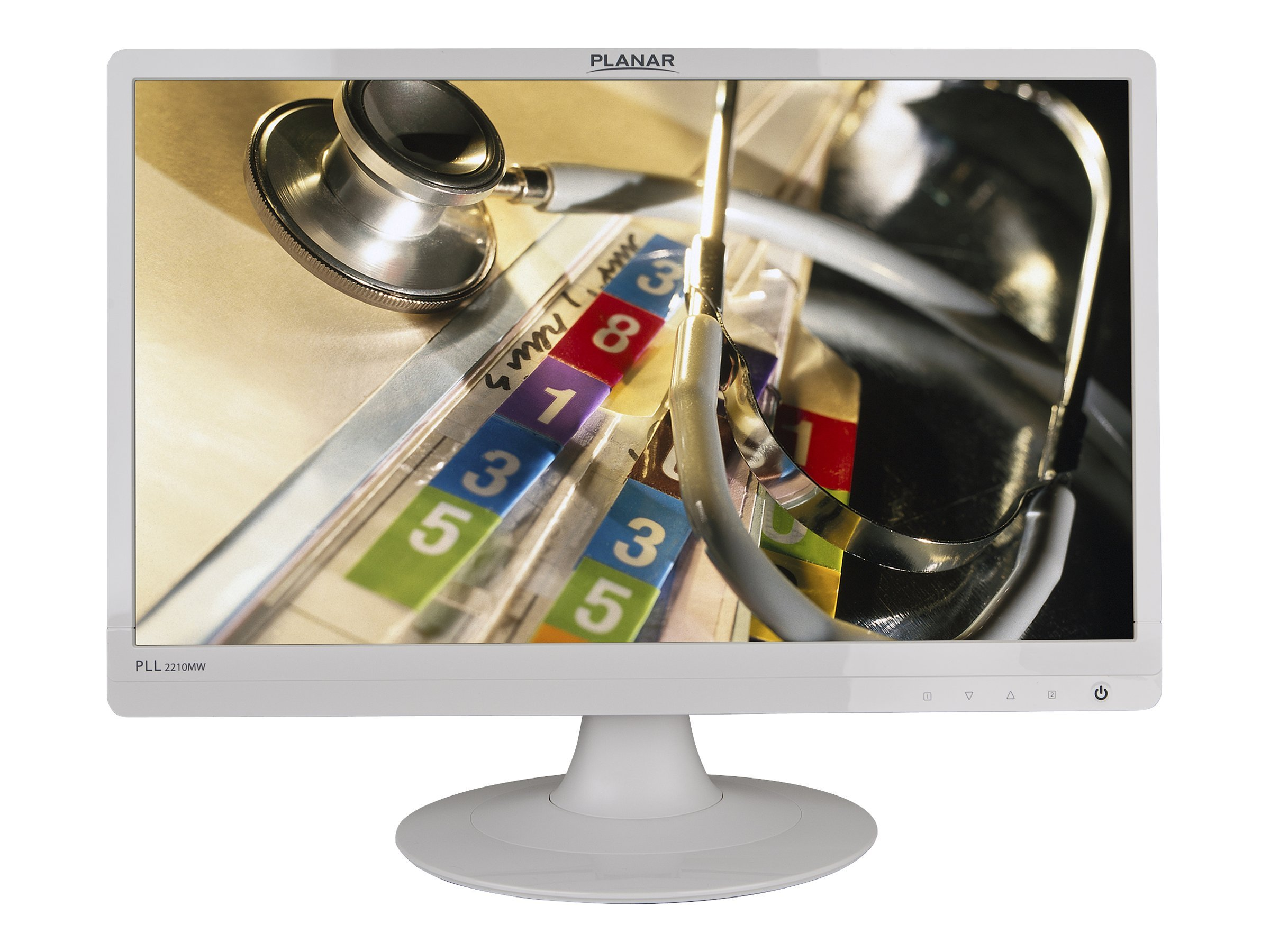 Planar 22 PLL2210MW Widescreen LED-LCD Monitor with Speaker, White, 997-6404-00, 12900591, Monitors - LED-LCD