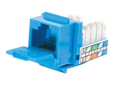 C2G Cat5e Keystone Jack, Blue, 35206, 8865009, Premise Wiring Equipment
