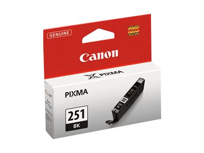 Canon Black CLI-251BK Ink, 6513B001