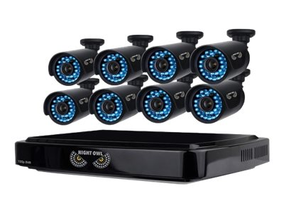 Night Owl 8-Channel Smart HD Video Security System with 1TB HDD and 8x 720p HD Cameras, B-A720-81-8