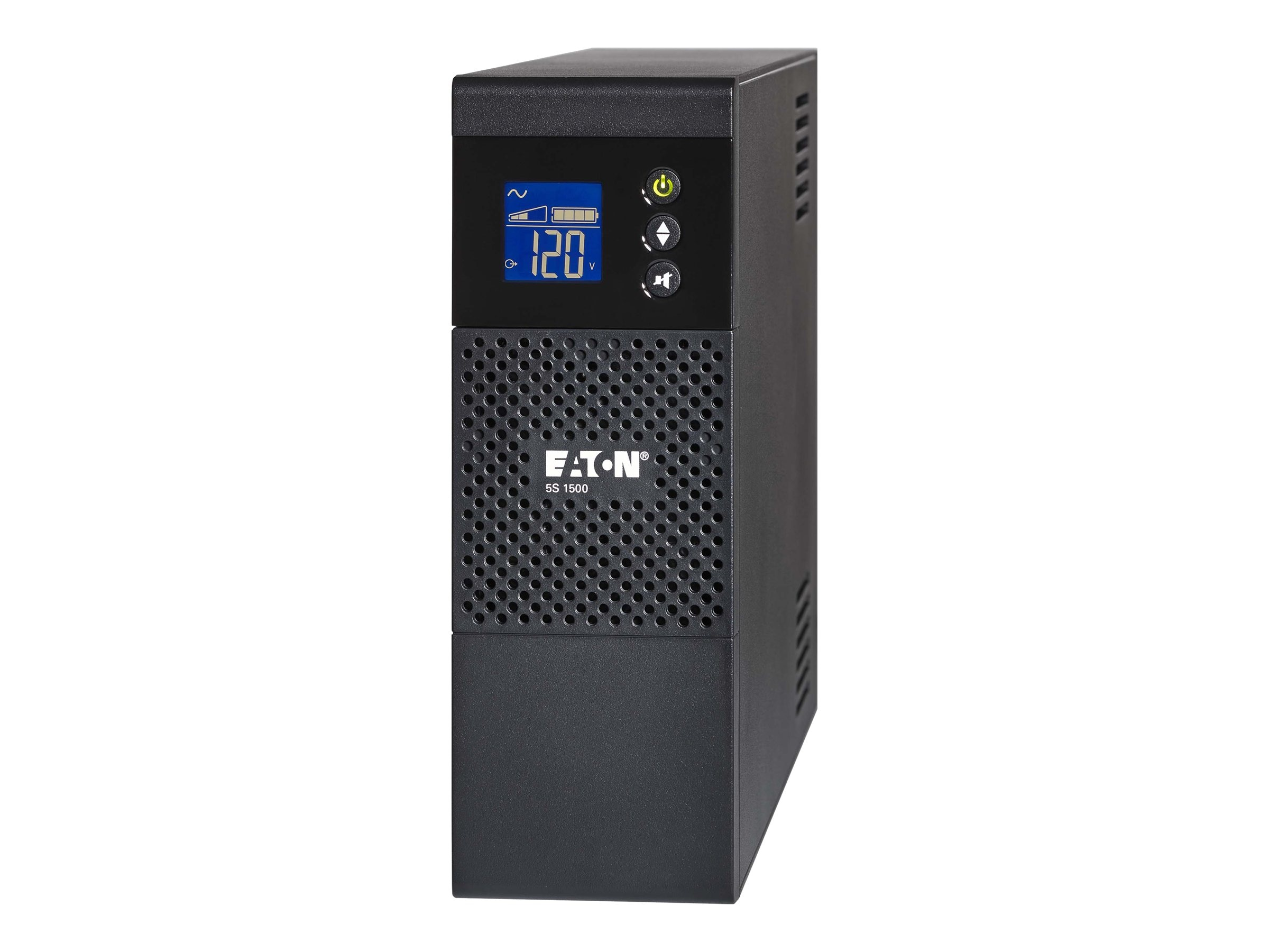 Eaton 5S LCD 1000VA 600W 120V Line-interactive Tower UPS 5-15P Input 6ft Cord