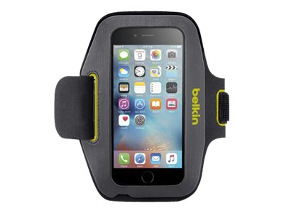 Belkin Sport-Fit Armband for iPhone 6, Blacktop Limelight