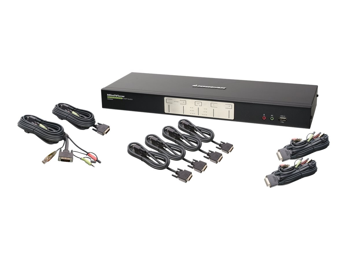 IOGEAR 4-Port DualView,  Dual-Link DVI KVM Switch, GCS1644, 9848690, KVM Switches