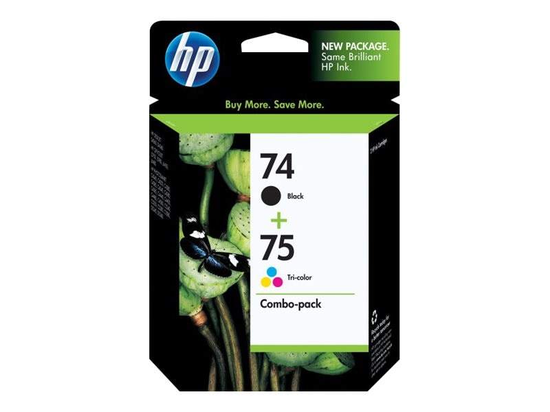 HP 74 (CC659FN) Black 75 Tri-color 2-pack Original Ink Cartridges