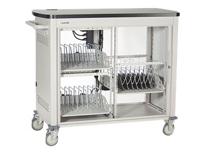 Black Box 27-Unit Laptop Charging Cart with Tambour Door, UCCDL27T, 16004444, Computer Carts