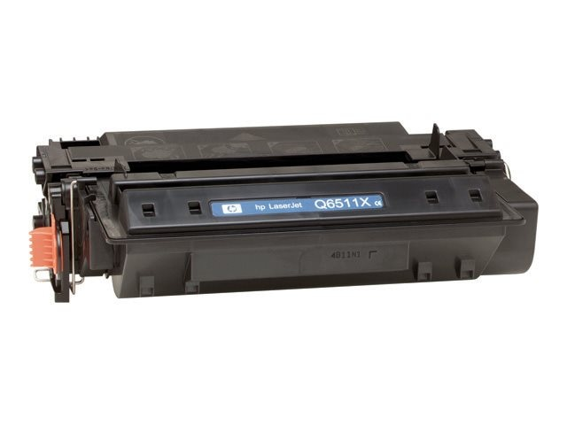 HP 11X (Q6511X) High Yield Black Original LaserJet Toner Cartridge, Q6511X, 5427960, Toner and Imaging Components