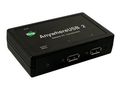 Digi Anywhere USB 2 International, AW-USB-2-W, 10817962, Network Hubs