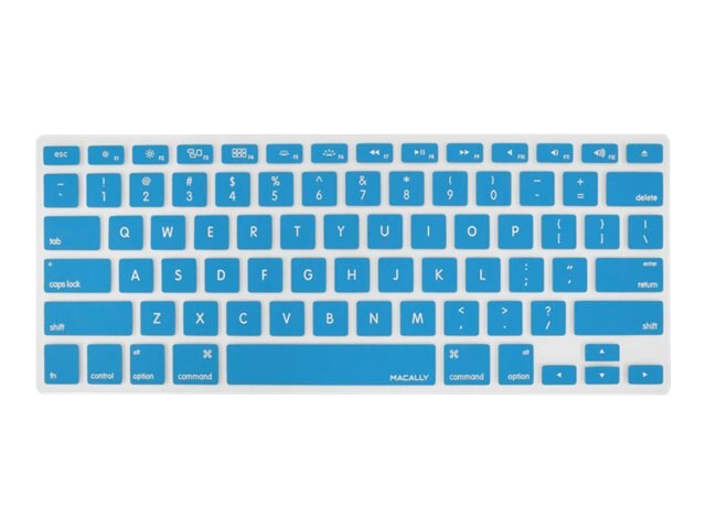 Macally Protective Cover for Macbook Keyboard, Blue