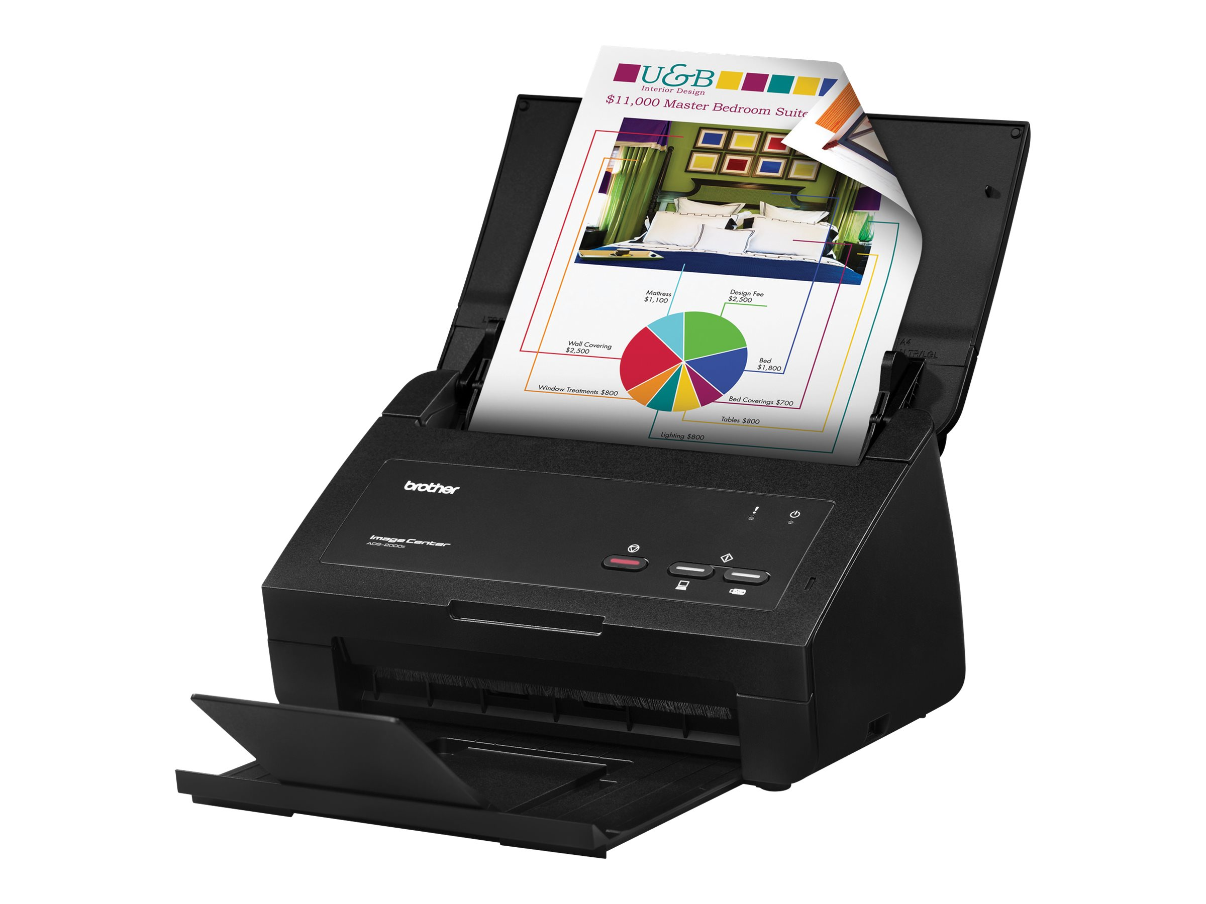 Brother ImageCenter ADS-2000 High Speed Desktop Duplex Color Scanner
