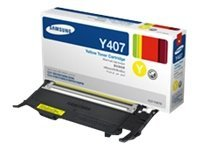 Samsung Yellow Toner Cartridge for CLP-325W & CLX-3185FW, CLT-Y407S, 12370746, Toner and Imaging Components