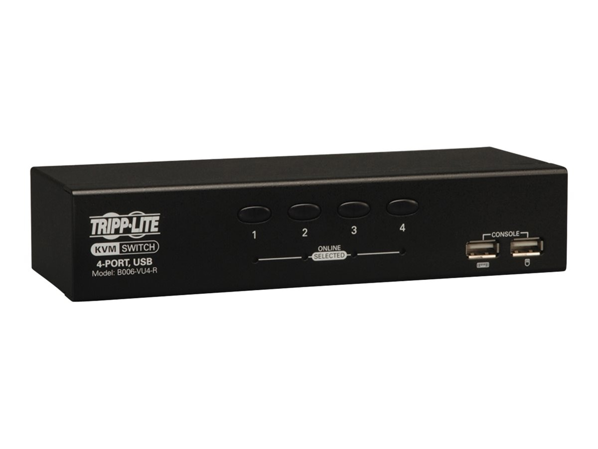 Tripp Lite 4-Port Desktop KVM Switch (USB), B006-VU4-R, 10956209, KVM Switches