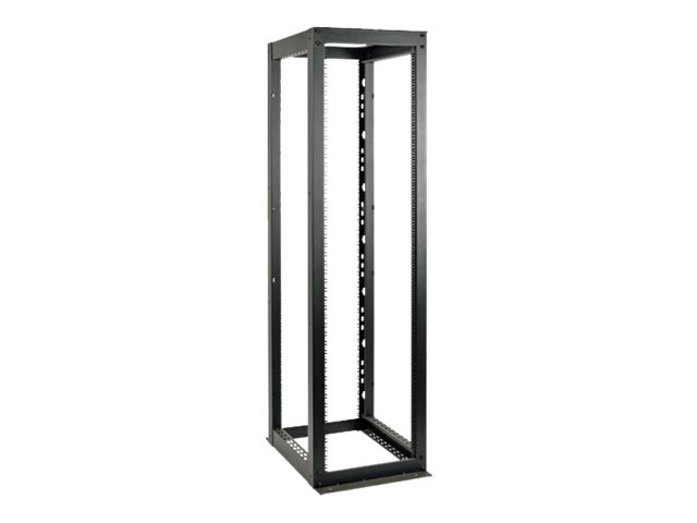 Tripp Lite Heavy-Duty 4-Post SmartRack Open Frame Rack, 58U, Square Holes, Black