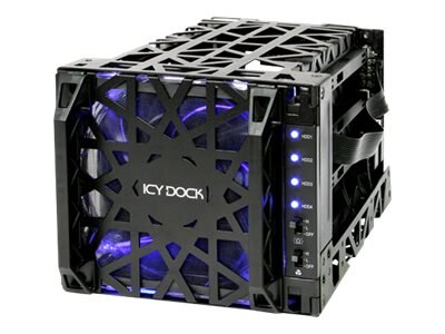 Icy Dock Icy Dock 4 in 3 SATA Hard Drive Cooler Cage, MB074SP-1B, 17669077, Drive Mounting Hardware