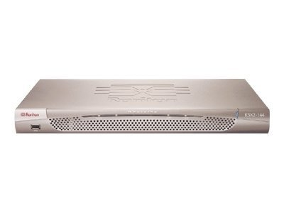 Raritan 4-Port KVM 4-Port Serial Opt Power Control Port Built-in Modem with Rackmount, DKSX2-144, 8263366, KVM Switches
