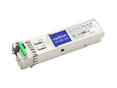 ACP-EP AddOn Calix 10GBASE-BX SFP+ SMF Transceiver, 100-01510-C-BXD-40-AO, 20021642, Network Transceivers