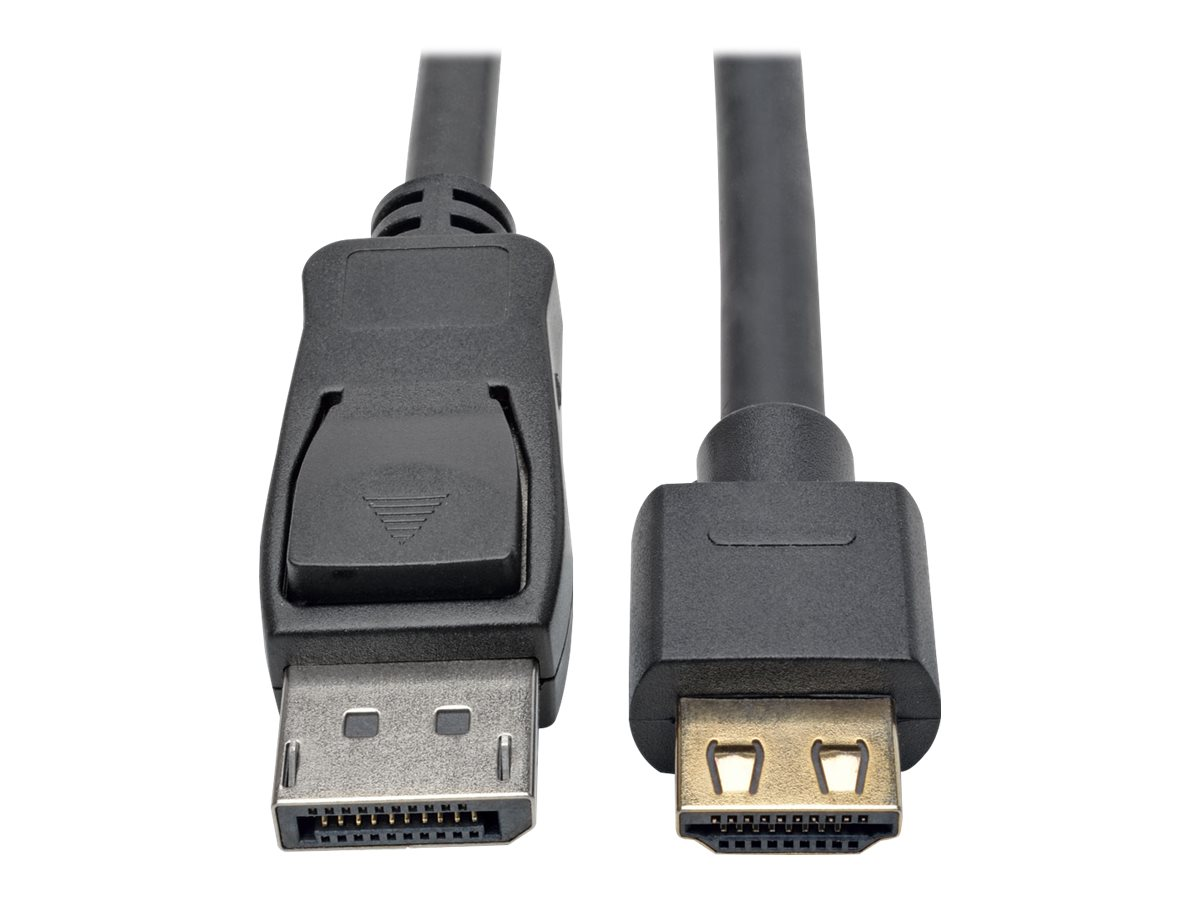 Tripp Lite DisplayPort 1.2a to HDMI M M 4Kx2K @ 60Hz Active Adapter Cable with Gripping HDMI Plug, Black, 10ft