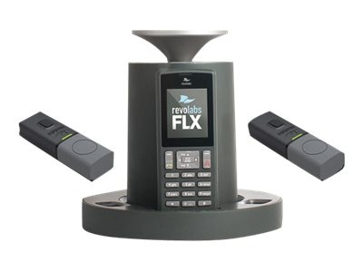 Revolabs FLX 2 VoIP SIP Wireless Conference Phone System with 2 Omni Microphones