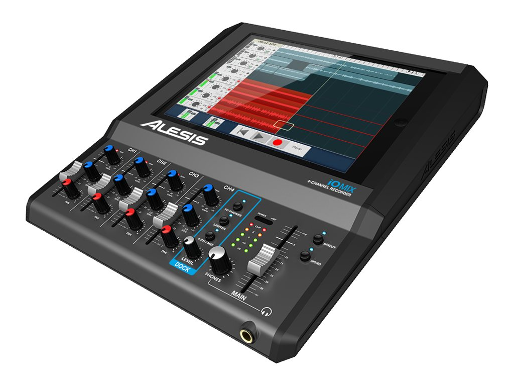 Alesis 4 Channel Mixer Interface4 Amps Phantom Power for iPad, IO MIX, 31008056, Music Hardware
