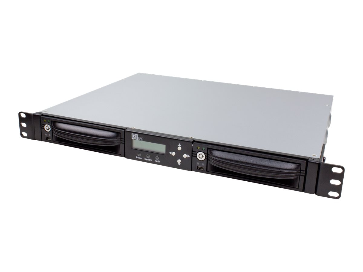 CRU RAX212-QR Rackmount 2-Bay RAID w  AES 256-Bit Encryption & Latched DP10, 40710-2530-0102, 13183838, Drive Mounting Hardware