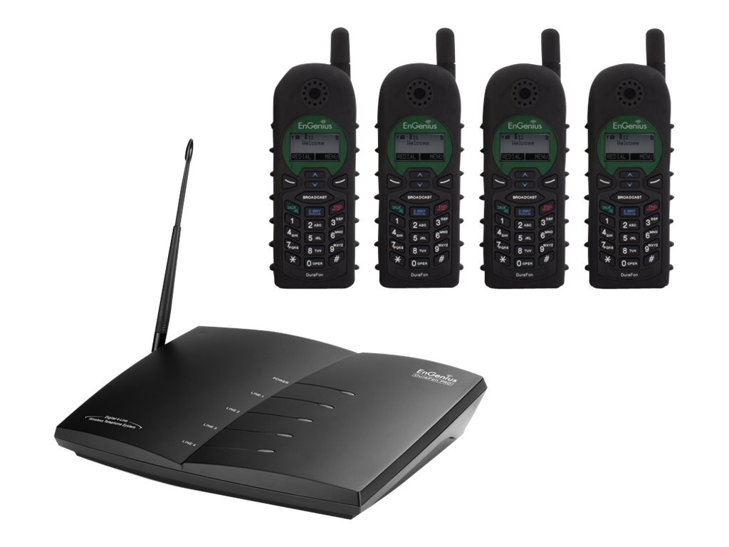Engenius Technologies DuraFon 4-Handset Bundle w  20M Indoor Anetnnae