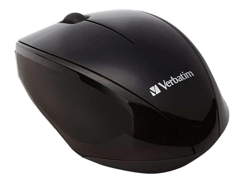 Verbatim Multi-Trac Blue LED Mouse, Wireless, Optical, Black, 97992, 15305659, Mice & Cursor Control Devices