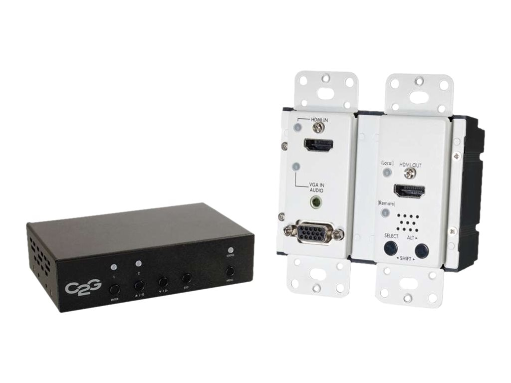 C2G HDMI, VGA + Stereo Audio to HDMI HDBASET Over CAT5 Extender Kit - Scaler De-Embedder