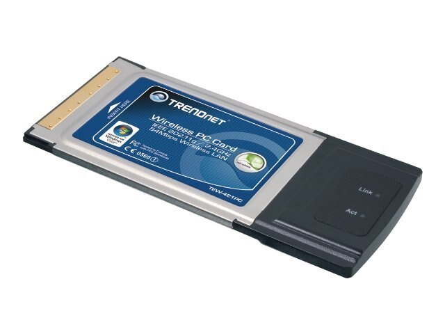 TRENDnet Wireless 802.11G 54Mbps PCMCIA Card, TEW-421PC