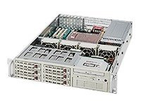 Supermicro Chassis, 2U Rackmountable, Dual Xeon, 6 HS SATA, 1 5.25 Bay, EATX, FDD, 550W PS, Black, CSE-823T-550LPB, 6458063, Cases - Systems/Servers