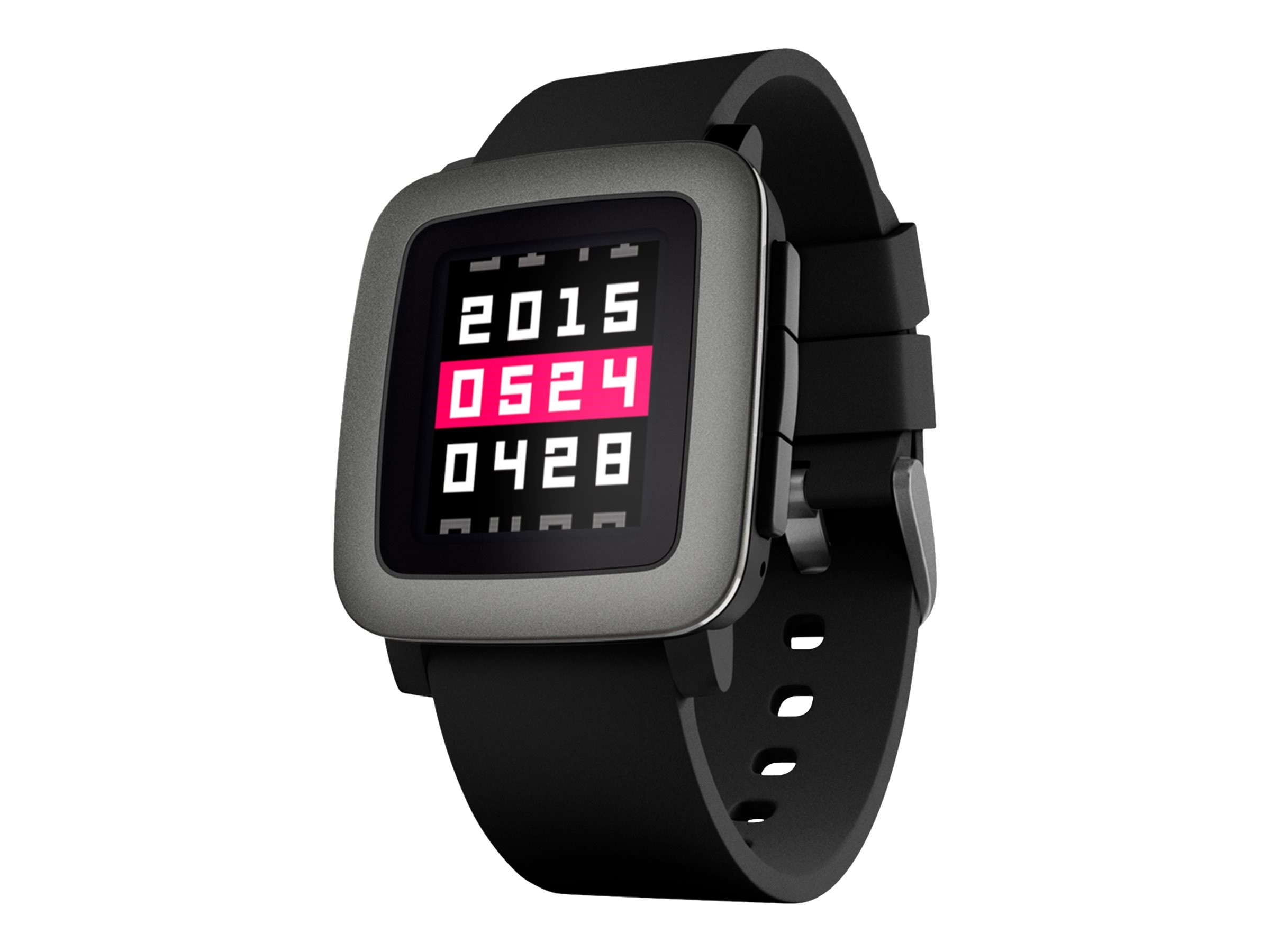 Pebble Time Smartwatch, Black