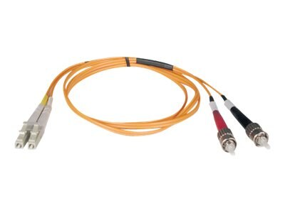 Tripp Lite Fiber Patch Cable, LC-ST, 62.5 125, Duplex, MM, Orange, 7m, N318-07M, 8427851, Cables
