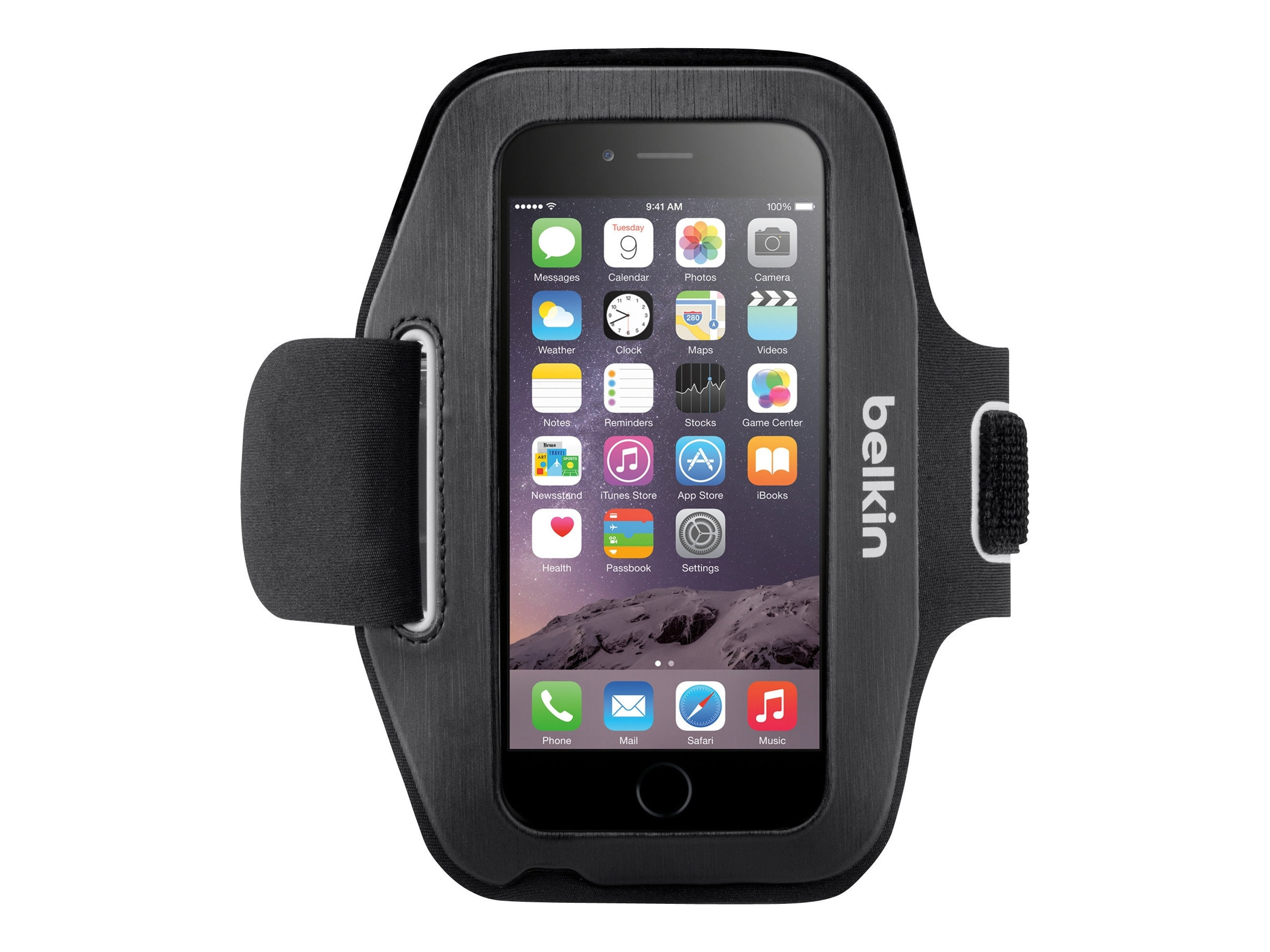 Belkin Sport-Fit Armband for iPhone 6, Blacktop Overcast, F8W500-C00, 17869861, Carrying Cases - Phones/PDAs