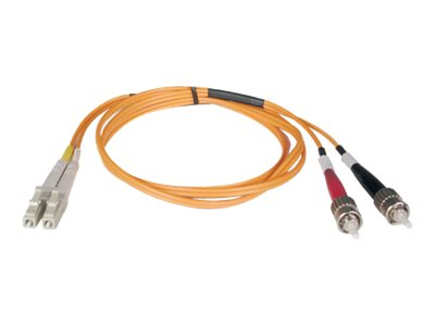 Tripp Lite Fiber Optic Patch Cable, LC-ST, 62.5 125, Duplex Multimode, 30m, N318-30M, 7370258, Cables