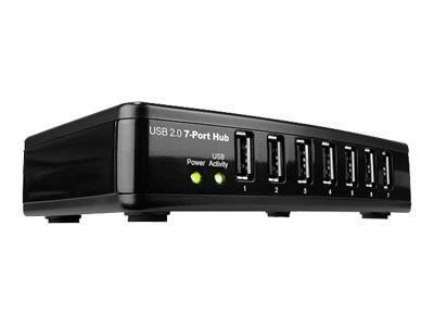 Rosewill 7-Port USB 2.0 Hub 480Mbps Self-powered w  Power Adapter, RHUB-300