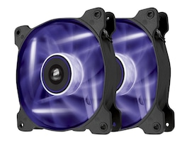 Corsair Air Series AF120 Case Fan Quiet Edition Purple LED, Twin Pack, CO-9050016-PLED, 16375085, Cooling Systems/Fans