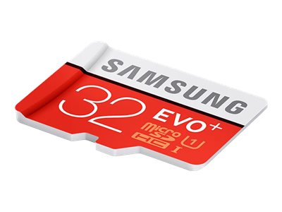 Samsung 32GB Micro SDHC EVO+ Flash Memory Card with Adapter, Class 10, MB-MC32DA/AM