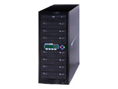 Kanguru™ 1 to 7 24x KanguruDVD Burn Proof Duplicator w  LCD, U2-DVDDUPE-S7, 9386034, Disc Duplicators
