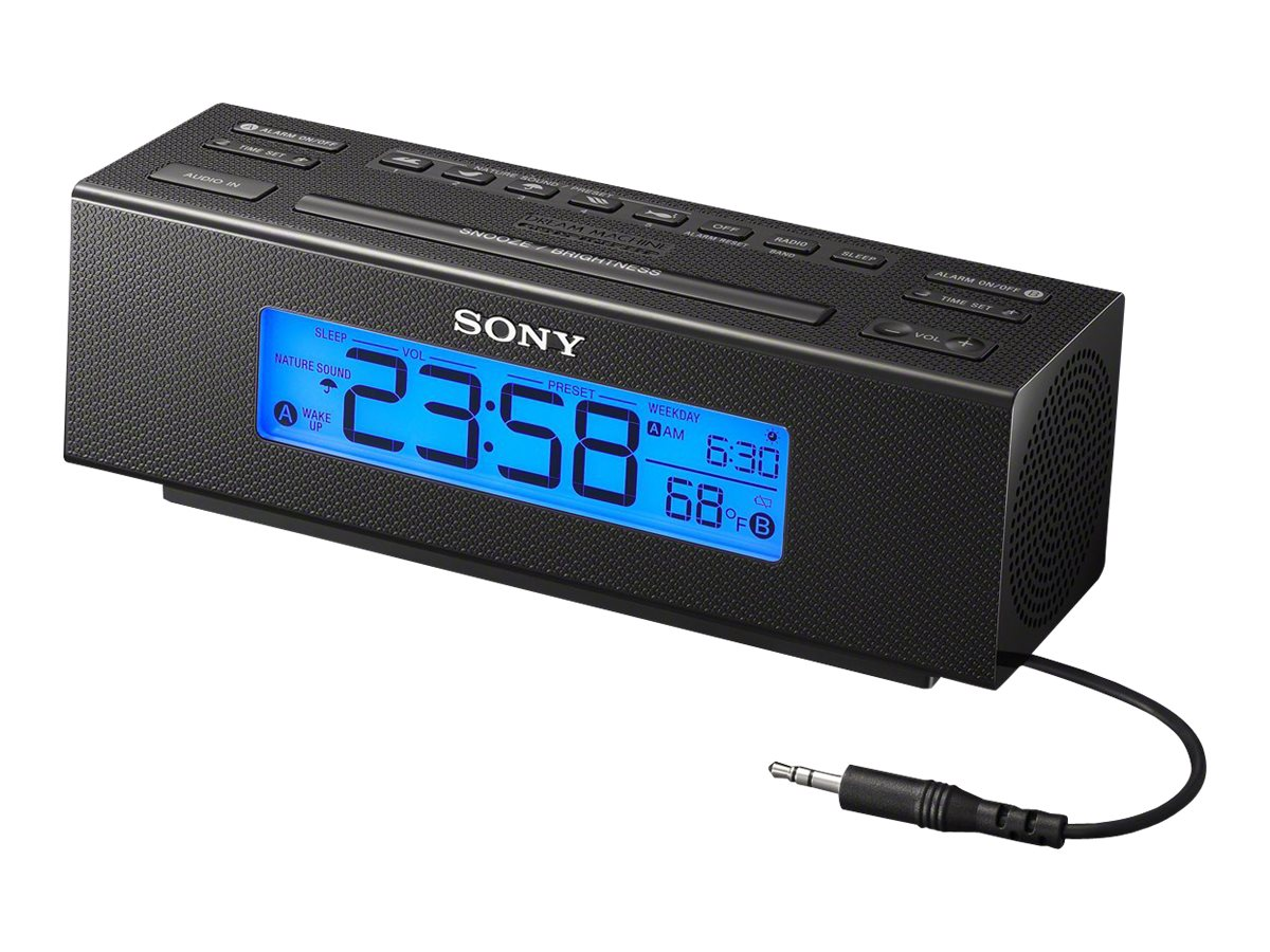 Sony 5-Direct Access Nature Sound Clock Radio