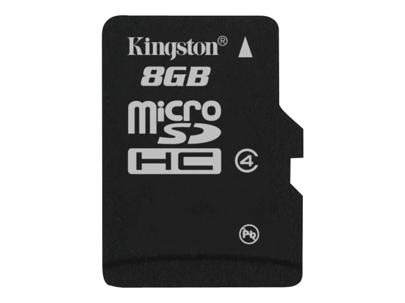 Kingston 8GB microSDHC Class 4 Flash Card, SDC4/8GBSP, 13639065, Memory - Flash