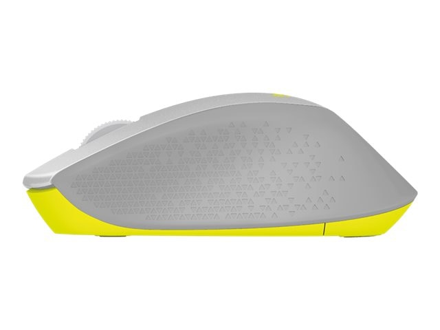 Logitech M330 Silent Plus Wireless Mouse, Gray Yellow, 910-004908