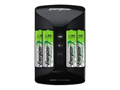Energizer NiMH Pro Charger w  (4) AA Batteries, CHRPROWB4