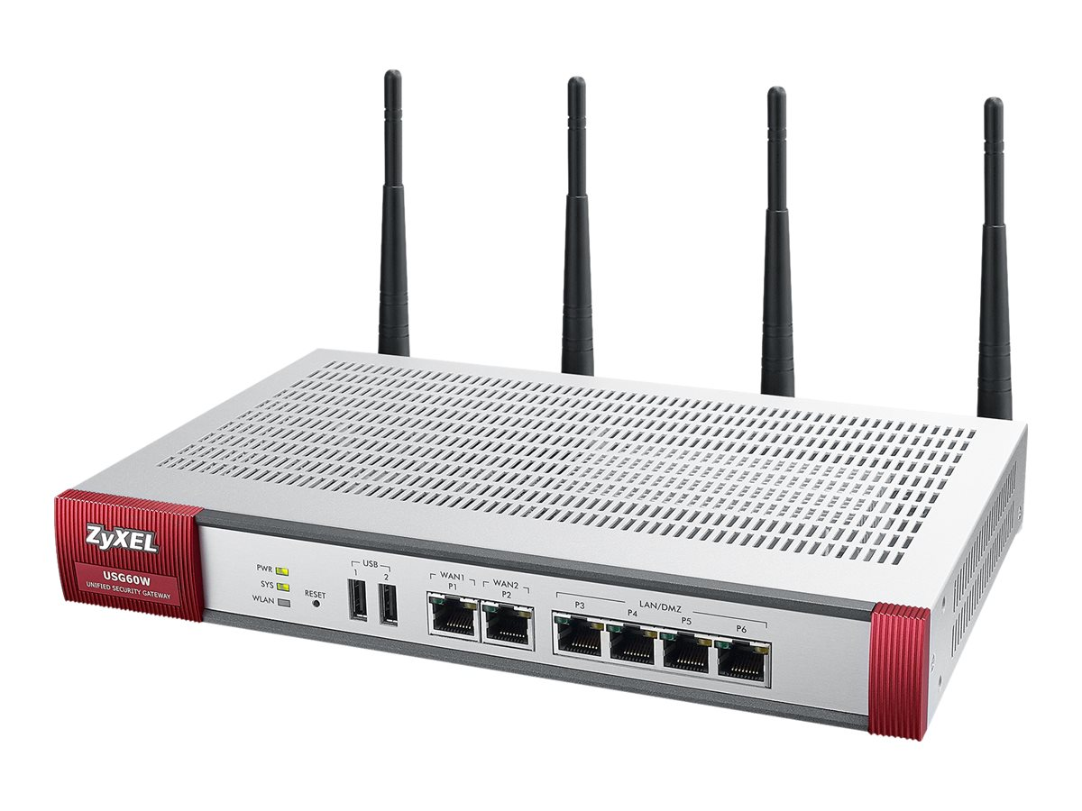 Zyxel USG60W UTM Firewall VPN 11N Router w 1 Yr CF AV IDP AS, USG60W, 17425574, Network Routers