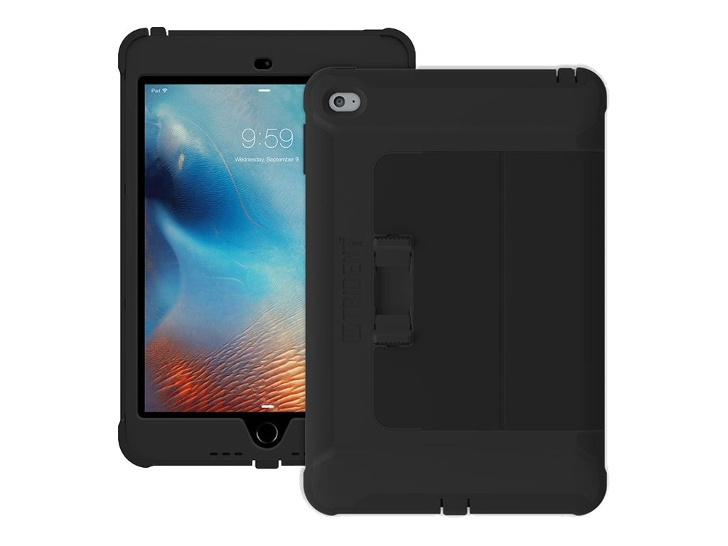 Trident Case Cyclops Case w  Sliding Case Stand - Black for ipad Mini4, CY-APIPM4-BKSLK