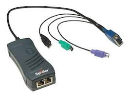 Lantronix 1-Port PS 2 Remote KVM, KVM IP Spider, SLS200PS20-01, 7542347, KVM Switches