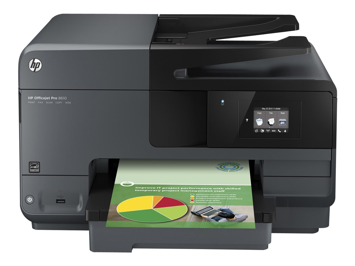 HP Officejet Pro 8610 e-All-in-One Printer, A7F64A#B1H, 16940873, MultiFunction - Ink-Jet