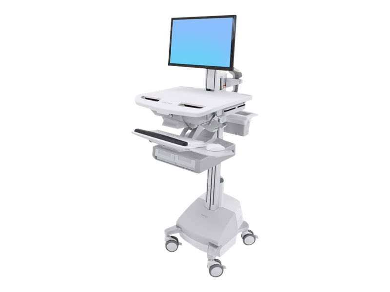 Ergotron StyleView Cart with LCD Pivot, SLA Powered, 2 Drawers, SV44-13A1-1, 31498059, Computer Carts - Medical