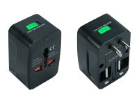 QVS Premium World Power Travel Adapter w  Surge Protection, PA-C3, 15146580, AC Power Adapters (external)