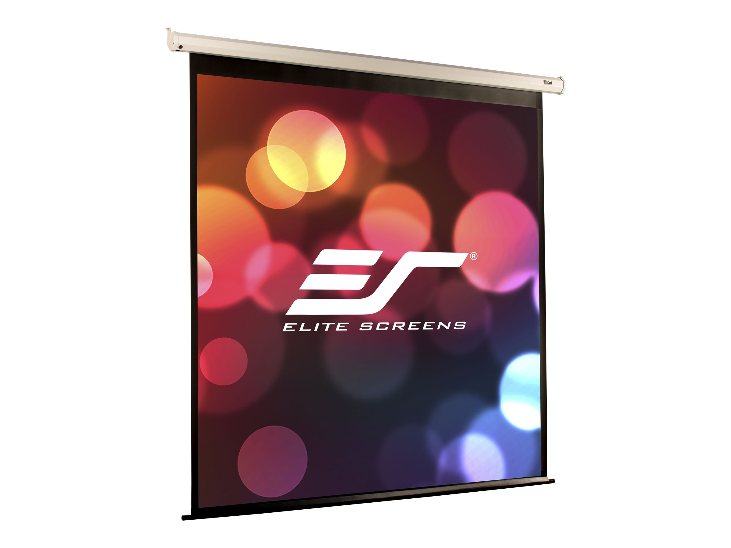 Elite VMAX2 Electric Projection Screen, Max White FG, 4:3, 165 with White Case