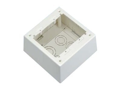 Panduit Double Gang Power Rated 2-piece Deep Outlet Box, Off White, JBP2DIW, 12192943, Premise Wiring Equipment