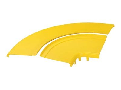 Panduit Split Cover Horizontal 90-degree 12x4 FiberRunner, Yellow, FRRASC12YL